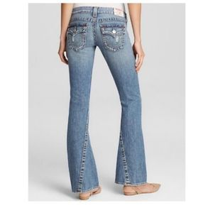 True Religion Joey Distressed Flare Leg Jeans 28